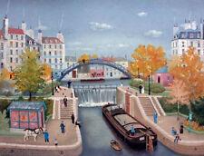 """Michel Delacroix     """"Le Canal St. Martin""""   Lithograph on Paper      BA"""