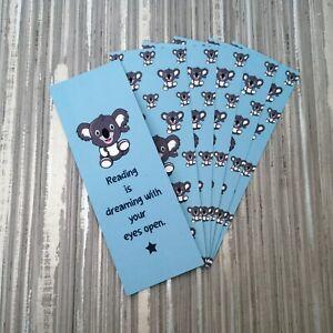 Koala Double Sided Bookmark ~ Velvet Soft Luxury Bookmark Book Mark ~