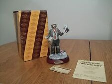 "Magazines For Sale Emmett Kelly Jr 7.5"" Figurine by Flambro in Box 89953 + base"