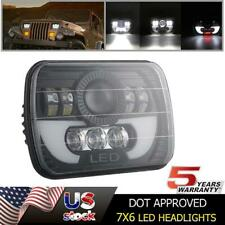 H6054 7x6 5x7 LED Headlight Hi/Lo Black Projector for GMC V1500 V2500 Suburban