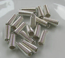 Jewellery Craft Design Findings Extra Large Silver Plated Coil Spring Crimp Ends
