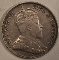 1905 Hong Kong 5 Cents Silver KM#12 1905年香港五分银币