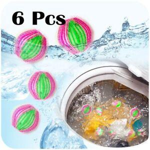 6pcs Reusable Hair Catcher Washing Laundry Balls Tools Lint Pet Hair Remover