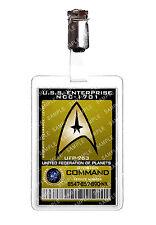 Star Trek Command Division Starfleet badge d'identification Cosplay Prop Costume Comique avec