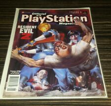 Official playstation video game magazine January 1998 rare vol 1#4 resident evil