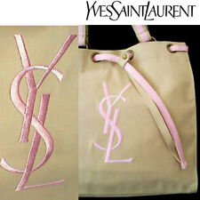 100%AUTHENTIC LtdEdition YSL Signature NUDE&PINK GYM HOLIDAY SHOPPING CANVAS BAG
