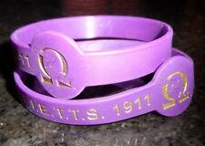 "4 Pack: Omega Psi Phi Wristband: 8.5"" Armband: Color Filled: True Frat Colors!"