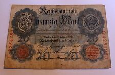 ALLEMAGNE EMPIRE Empire 20 Reichsmark 1914 Ro 47b d'OCCASION USED 7 positions