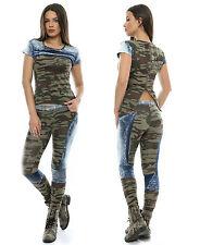 Ocassion 2-Teiler Bandeau-Top Bootcut Jeans Kosagentop Schlaghose XS-L