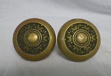 2 Matching Old Vintage Antique Brass Door Knobs