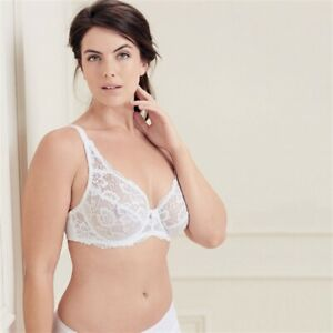 AVON FULLER CUP WHITE LACY BRA NEW IN PACK D,DD,E & F CUP 36-42 SIZES