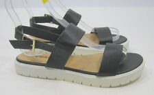 Summer Black Womens Shoes Sexy Open Toe Slingback Beach Sandals Size 7