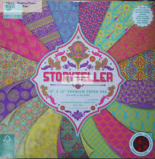 """First Edition 12"""" x 12"""" Scrapbooking Paper STORYTELLER vibrant India inspired 16"""