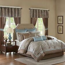 Madison Park Essentials MPE10-225 Jacquard 24 Piece Comforter Set NEW