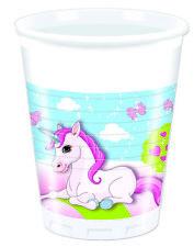 Einhorn Unicorn Pony 8 Stück Einwegbecher 200ml Kinder Geburtstag Partygeschirr