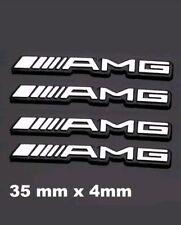 4XLogo adhesivo insignia emblema Mercedes Benz AMG volante 3D  Badge Metalic