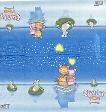 3 Mouchoirs en papier Chat Catty et Tom Decoupage Paper Hankies Cat serviette
