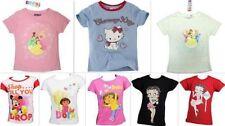Vêtements t-shirts manches courtes pour fille de 2 à 16 ans