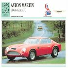 Aston Martin DB4 GT Zagato Course 1959-1963 GB/UK CAR VOITURE CARTE CARD FICHE