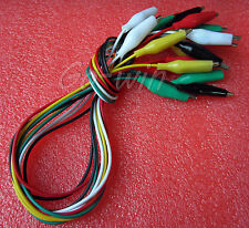 New listing 10pcs 50cm Double-ended Crocodile Clips Cable Alligator Clips testing wire