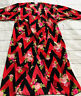 Lularoe Shirley KIMONO Small Hot Pink & Black Chevron Roses sheer NWT