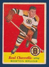 REAL CHEVREFILS 57-58 TOPPS 1957-58 NO 1 VGEX  4984