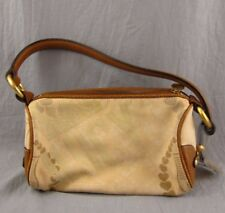 """Juicy Couture Handbag Beige Leather Trim 5x9"""" Purse All You Need is Juicy"""