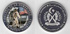 SAHARAUI WESTERN SAHARA PROOF 1000 PESETAS COIN 1997 YEAR 1st MAN ON MOON SPACE
