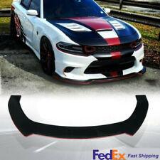 Red Line Front Lip Bumper Spoiler Splitter For Dodge Charger Rt Srt 2015-2020
