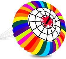 Super Parafoil Rainbow Ring Kite Spinning Bowl Crown Ripstop Nylon Single Line