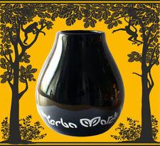 LUKA Black Ceramic Vessel / Cup for Yerba mate - 350ml Capacity