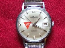 """A VERY NICE MANS VULCAIN WRIST WATCH WITH TOM""""S ADVERTISING ON DIAL RUNS GREAT"""