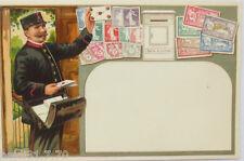 """""""Postbote, Briefträger, Briefmarken, Brief"""" 1900, Prägekarte ♥ (14076)"""
