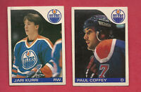 1985-86 OPC OILERS PAUL COFFEY + JARI KURRI  CARD