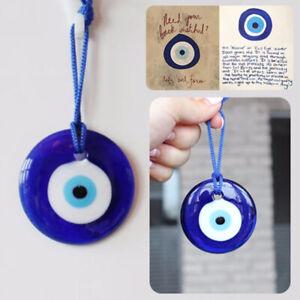 Blue Charm Evil Eye Amulet Turkish Turkey Glass Car Home Lucky Pendant Decor UK'