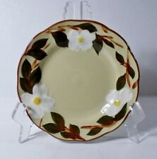 "4 Stangl WHITE DOGWOOD 6"" Bread Plates EXCELLENT Circa 1964-1978"