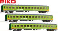 "Piko H0 59673-S IC Personenwagen 2. Klasse ""Flixtrain"" (3 Stück) - NEU + OVP"