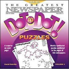 The Greatest Newspaper Dot-To-Dot Puzzles, Vol. 2 by Kalvitis, David -Paperback