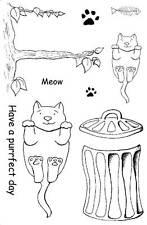 Non montés Rubber Stamps Cats Purrfect Jour