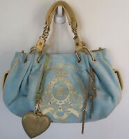 Signature Juicy Couture Light Blue Velour Handbag Purse