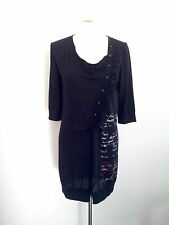 Individual Style! Verge size S black wool blend dress in excellent condition