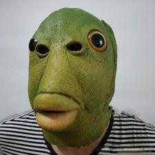 Fish mask Latex Full head Masks Animal Lizard Scary Monster Cosplay Merman Props
