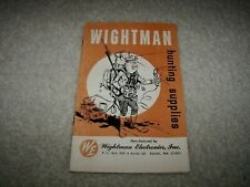 Vintage 1960's Wightman Hunting Supplies And Electronics Catalog