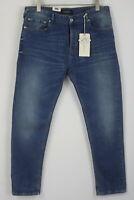 UVP 99 Scotch & Soda Dean Herren W34/L32 Locker Kegelförmig Blaue Jeans 6777 MM