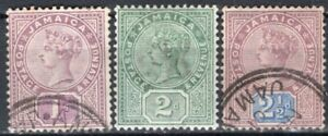 JAMAICA 1889/91 STAMPS Sc. # 24/6 USED