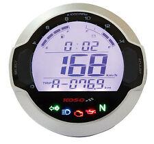 Koso DL-03SR Digital Tacómetro Velocímetro motocicleta Panel de control de luces de advertencia