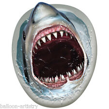 Tropical Terror Hungry SHARK Toilet Topper Decoration
