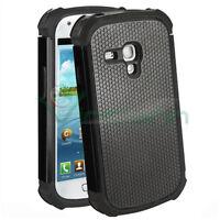 Custodia Duo Shield per Samsung Galaxy S3 mini i8190 NERO silicone+rigida cover