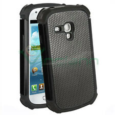 Custodia Duo Shield per Samsung Galaxy S3 mini i8190 NERO silicone+rigida cover