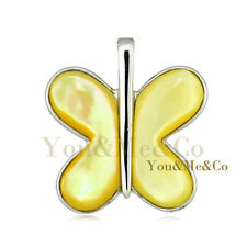 Natural Mother Of Pearl 925 Sterling Silver Butterfly Pendant